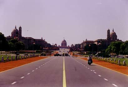 Paradestrasse in Neu Delhi