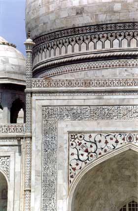 Inlay works on Taj Mahal